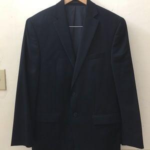 Calvin Klein slim fit suit navy size 38R, 34x30